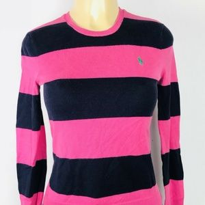 Ralph Lauren Sweater Womens  Striped Long sz S